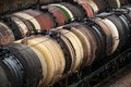 Oil Tanks On A Railroad Stock Images - 31509614