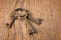Old Keys On A Key Ring Royalty Free Stock Photography - 31512007