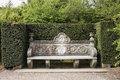 Ancient Stone Bench In Park Stock Images - 31513944