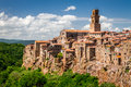 Pitigliano City On The Cliff In Summer Royalty Free Stock Images - 31514469