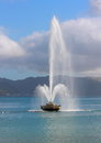 Water Fountain At Oriental Parade, Wellington, NZ. Royalty Free Stock Photography - 31532517