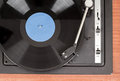 Spinning Vinyl Record. Motion Blur Image.  Vintage Toned. Royalty Free Stock Photography - 31537557