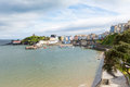 Tenby Wales With Pastel Coloured Cottages Stock Photo - 31539570