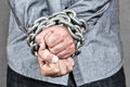 Elegant Man With His Hands Chained Stock Photo - 31542670