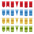 Set Of Red, Blue, Gold  And Green Glossy Ribbons Stock Image - 31548251