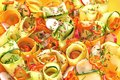 Raw Food Salad With Carrots And Cucumber Royalty Free Stock Photos - 31549248