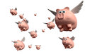 When Pigs Fly Group Royalty Free Stock Images - 31567229