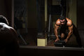 Body Builder Doing Heavy Weight Exercise For Back Stock Image - 31567321