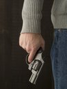 Man Holding A Revolver Royalty Free Stock Images - 31578929