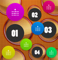 Infographics Geometrical Steps Option Banner Royalty Free Stock Photo - 31583985