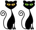 Isolated Black Cats Clip Art Royalty Free Stock Images - 3167669