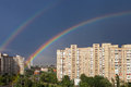 Rainbow In The City Royalty Free Stock Photo - 31606415
