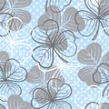 Seamless Pattern With Clover Stock Photo - 31607930