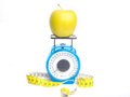 Loosing Weight On Apples Royalty Free Stock Images - 31613089