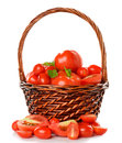 Fresh Tomatoes In A Basket Stock Photography - 31616912