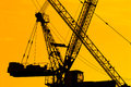 Silhouette Of The Tower Crane Stock Photos - 31617363