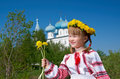 Russian  Girl On Church Royalty Free Stock Photo - 31617835