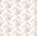 Vector Seamless Golden Floral Wallpaper Stock Photos - 31623103