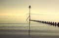 Groyne In Sea Mist Royalty Free Stock Photos - 31635838