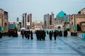 People At The Entrance To Holy Shrine Of Imam Reza Stock Images - 31646374