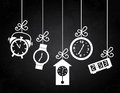 Clock Icons Royalty Free Stock Photo - 31653435