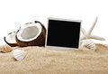 Chopped Coconut And Photoframe Royalty Free Stock Photo - 31659355
