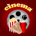 Film With Popcorn And A Drink Stock Images - 31661054