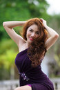 Young Asian Woman Outdoor Portrait Royalty Free Stock Image - 31661206