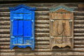 Wooden Window Shutters Closed Royalty Free Stock Images - 31661599