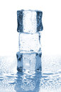 Three Ice Cubes In Stack Royalty Free Stock Photos - 31669408