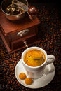 Espresso Cup With Coffee Mill Stock Photo - 31673950