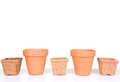 Terracotta Or Clay Gardening Pots Stock Images - 31674414