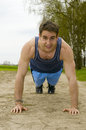 Young Man Press Up Stock Image - 31688591