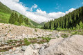 Road On  Big Almaty Lake, Mountains And Blue Sky In Almaty, Kazakhstan,Asia At Summer Stock Photos - 31689433
