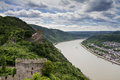 Panorama Of The Rhine River Valley With Castle Liebenstein Stock Photography - 31690722