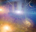 Maze Stars Royalty Free Stock Images - 31694269