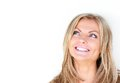 Portrait Of A Beautiful Young Woman Smiling And Looking Up Royalty Free Stock Image - 31705816