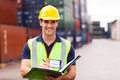 Container Depot Worker Stock Photo - 31711050