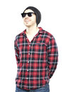Hipster Man In Plaid Shirt Stock Image - 31716501