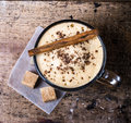 Frothy Cup Of Espresso Coffee With Cinnamon Topped With Sprinkle Stock Images - 31722094