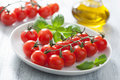 Cherry Tomatoes And Basil Stock Photos - 31726483