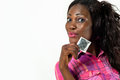 African American Girl Showing Condom-Safe Sex Conc Royalty Free Stock Photo - 31752965