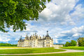 Chateau De Chambord, Unesco Medieval French Castle And Tree. Loire, France Stock Images - 31753544