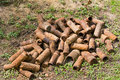 Rusting Shell Cases From WWI Stock Photo - 31761100