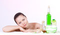 Beauty Young Woman With Spa Oils Stock Photography - 31764332