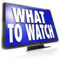What To Watch HDTV Television Screen Suggestion Guide Royalty Free Stock Image - 31772626