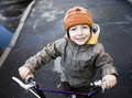 Little Cute Boy On Bicycle Smiling Royalty Free Stock Photos - 31775098