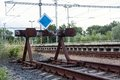 End Of The Line Of Railway Royalty Free Stock Photo - 31803525