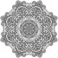 Lacy Ornate Vector Black Napkin Royalty Free Stock Photography - 31803767