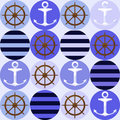 Seamless Pattern With Anchors Royalty Free Stock Photos - 31822488